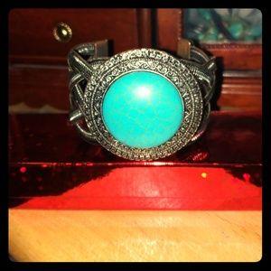 Chunky Turquoise Cuff